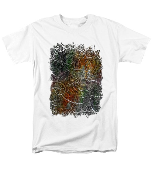 Swan Dance Muted Rainbow 3 Dimensional Men's T-Shirt  (Regular Fit) by Di Designs