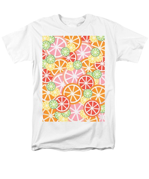 Sweet And Sour Citrus Print Men's T-Shirt  (Regular Fit) by Lauren Amelia Hughes