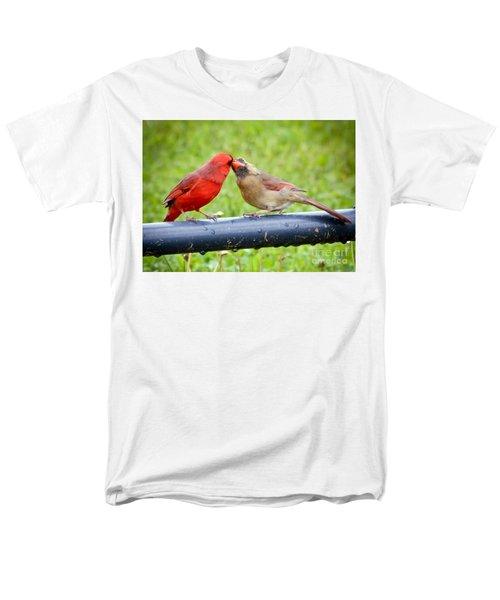 Sweet Cardinal Couple Men's T-Shirt  (Regular Fit) by Kerri Farley