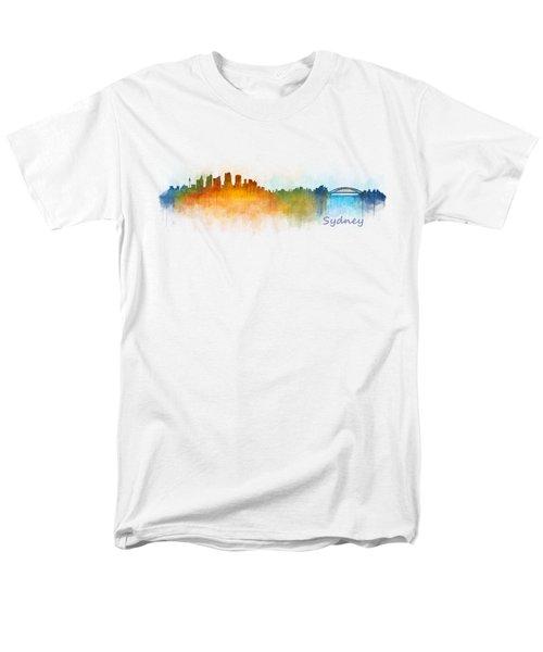 Sydney City Skyline Hq V3 Men's T-Shirt  (Regular Fit) by HQ Photo