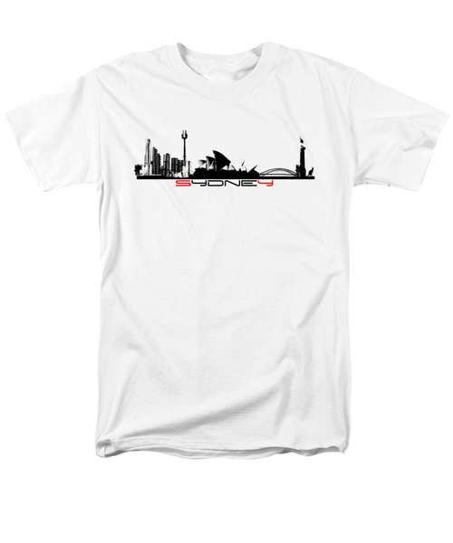 Sydney Skyline Black Men's T-Shirt  (Regular Fit)