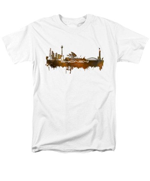 Sydney Skyline City Brown Men's T-Shirt  (Regular Fit)