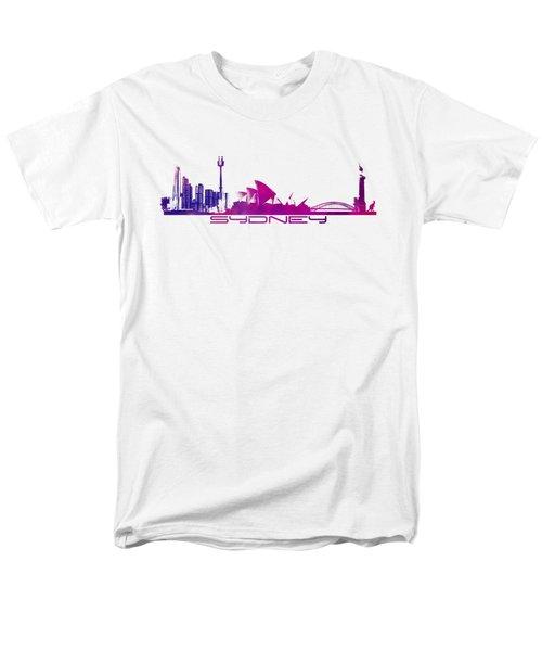 Sydney Skyline Purple Men's T-Shirt  (Regular Fit)