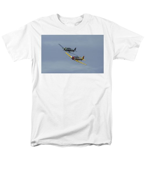 Men's T-Shirt  (Regular Fit) featuring the photograph T-6 Trainers by Elvira Butler