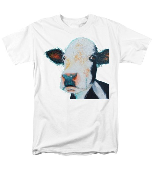 T-shirt With Cow Design Men's T-Shirt  (Regular Fit) by Jan Matson