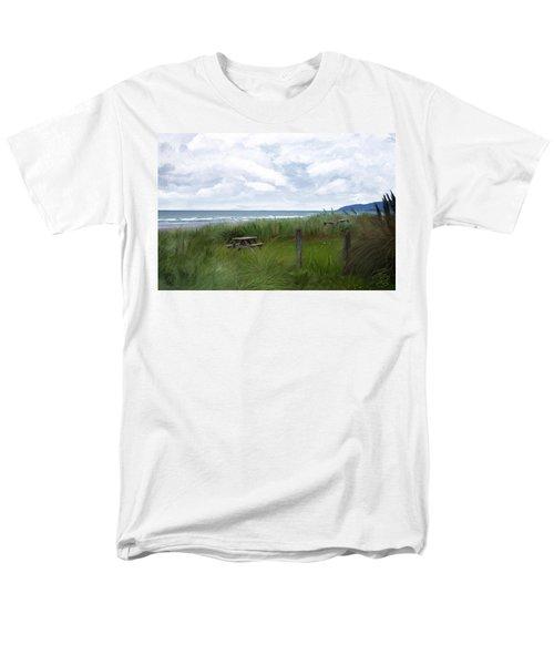 Tables By The Ocean Men's T-Shirt  (Regular Fit) by Debra Baldwin