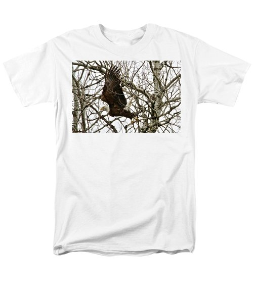 Men's T-Shirt  (Regular Fit) featuring the photograph Taking Off by Michael Peychich