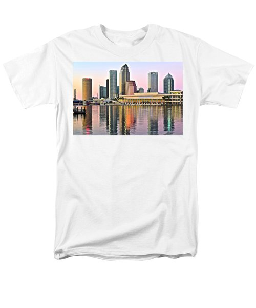 Tampa In Vivid Color Men's T-Shirt  (Regular Fit) by Frozen in Time Fine Art Photography