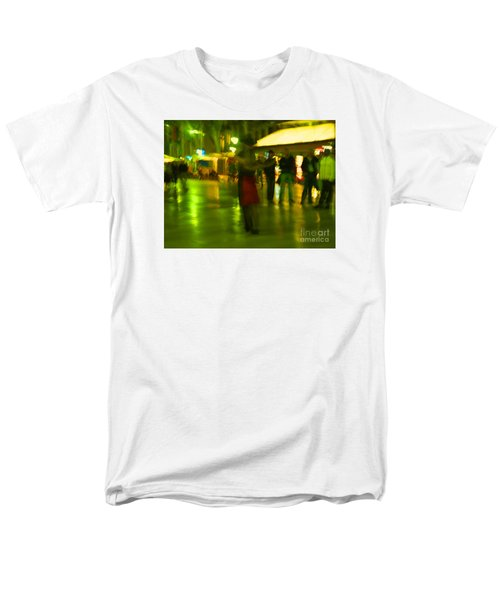 Men's T-Shirt  (Regular Fit) featuring the mixed media Tango Dance In Rain by Haleh Mahbod