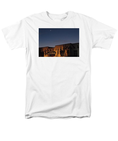 Taos Plaza Men's T-Shirt  (Regular Fit) by Christopher Kirby