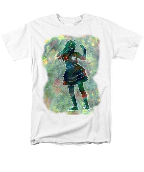 Tap Dancer 1 - Green Men's T-Shirt  (Regular Fit) by Lori Kingston
