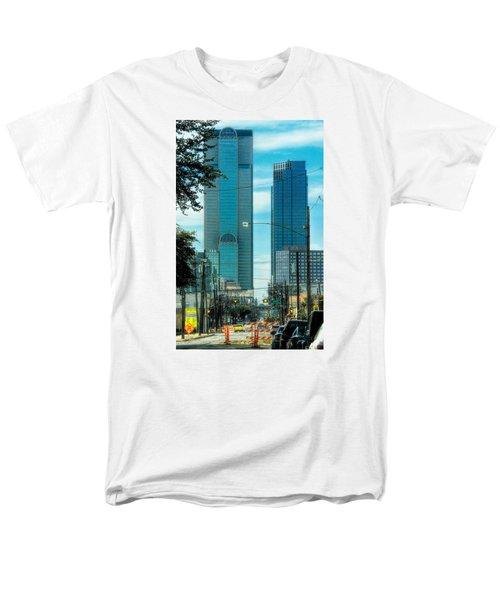 Men's T-Shirt  (Regular Fit) featuring the photograph Tax Dollars At Work by Joan Bertucci