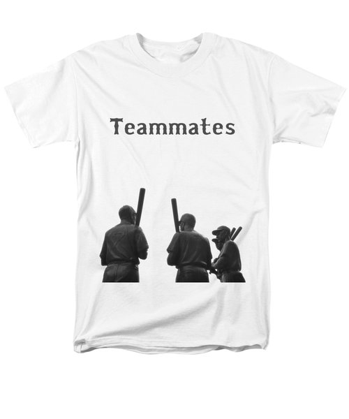 Teammates Poster - Boston Red Sox Men's T-Shirt  (Regular Fit) by Joann Vitali