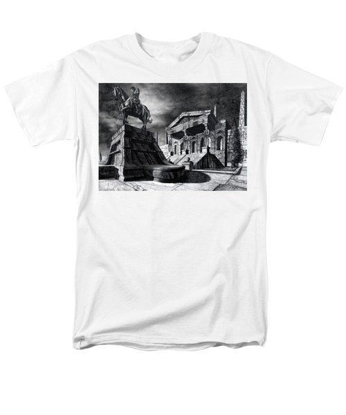 Men's T-Shirt  (Regular Fit) featuring the drawing Temple Of Perseus by Curtiss Shaffer