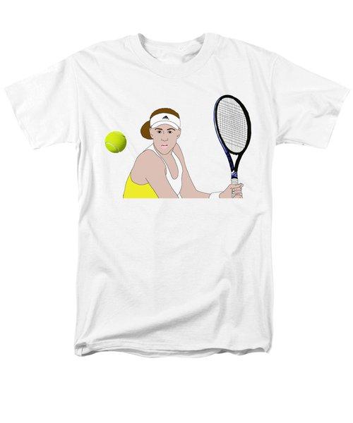 Tennis Ball Focus Men's T-Shirt  (Regular Fit) by Priscilla Wolfe