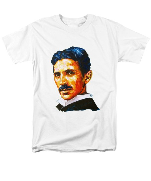 Tesla - Pure Genius Men's T-Shirt  (Regular Fit) by Konni Jensen