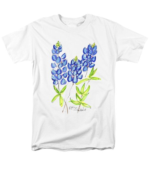 Texas State Flower The Bluebonnet Men's T-Shirt  (Regular Fit) by Kathleen McElwaine