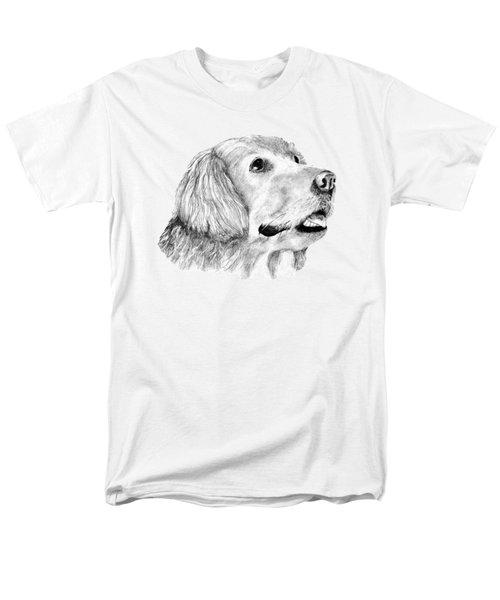 Men's T-Shirt  (Regular Fit) featuring the drawing The Amanda Look by John Stuart Webbstock