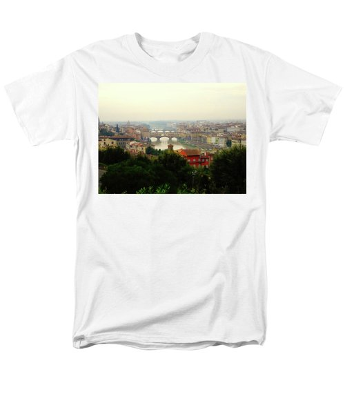 Men's T-Shirt  (Regular Fit) featuring the photograph The Beauty Of Florence  by Alan Lakin