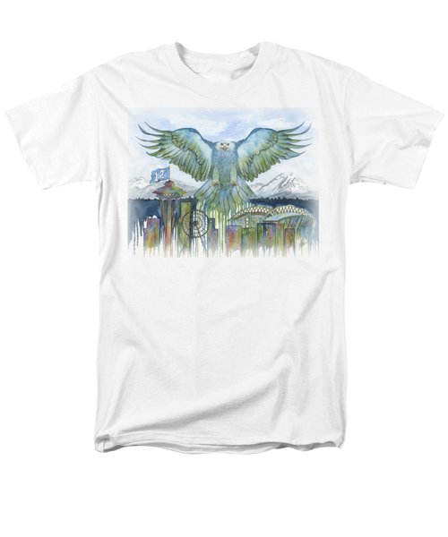 The Blue And Green Men's T-Shirt  (Regular Fit) by Julie Senf