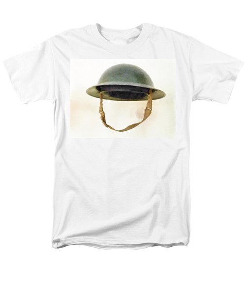 The British Brodie Helmet  Men's T-Shirt  (Regular Fit) by Steve Taylor