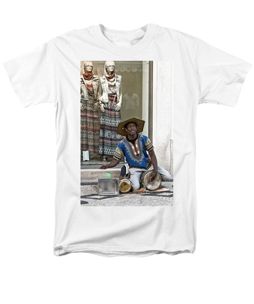 Men's T-Shirt  (Regular Fit) featuring the photograph The Color Of Street Music by Lorraine Devon Wilke