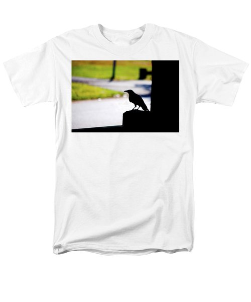 Men's T-Shirt  (Regular Fit) featuring the photograph The Crow Awaits by Karol Livote