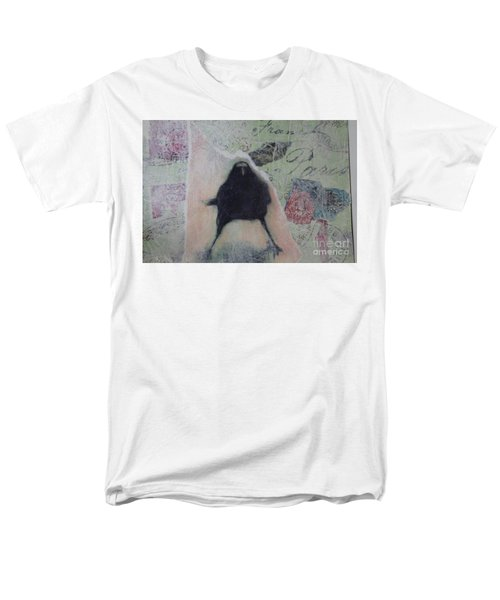 Men's T-Shirt  (Regular Fit) featuring the painting The Crow Called The Raven Black by Kim Nelson