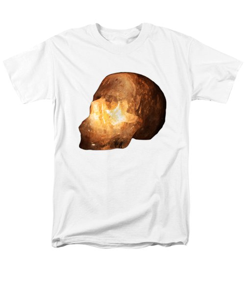 The Crystal Skull On Transparent Background Men's T-Shirt  (Regular Fit) by Terri Waters