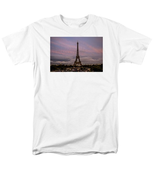 The Eiffel Tower At Sunset Men's T-Shirt  (Regular Fit) by Jean Haynes