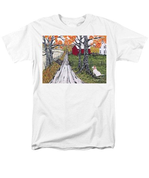Sadie The Farm Dog Men's T-Shirt  (Regular Fit) by Jeffrey Koss