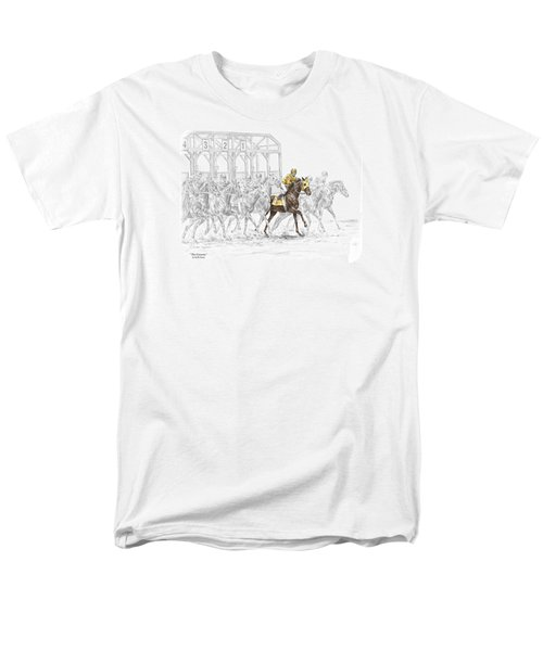 The Favorite - Thoroughbred Race Print Color Tinted Men's T-Shirt  (Regular Fit) by Kelli Swan