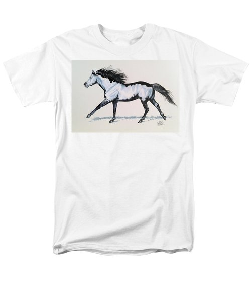 The Framed American Paint Horse Men's T-Shirt  (Regular Fit) by Cheryl Poland