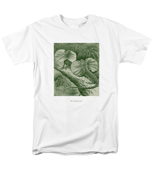Men's T-Shirt  (Regular Fit) featuring the drawing The Frilled Lizard by David Davies