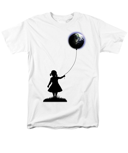 The Girl That Holds The World - White  Men's T-Shirt  (Regular Fit) by Nicklas Gustafsson