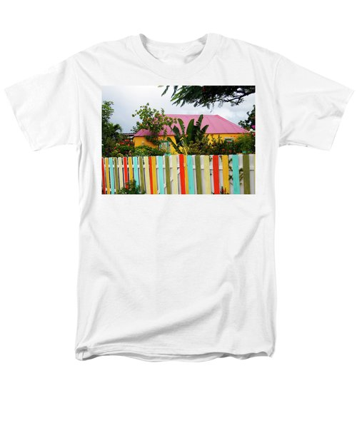 Men's T-Shirt  (Regular Fit) featuring the photograph The Happy House, Island Of Curacao by Kurt Van Wagner