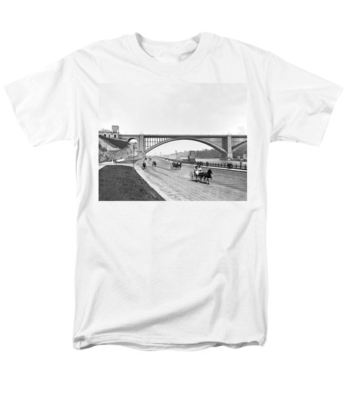 The Harlem River Speedway Men's T-Shirt  (Regular Fit) by William Henry jackson