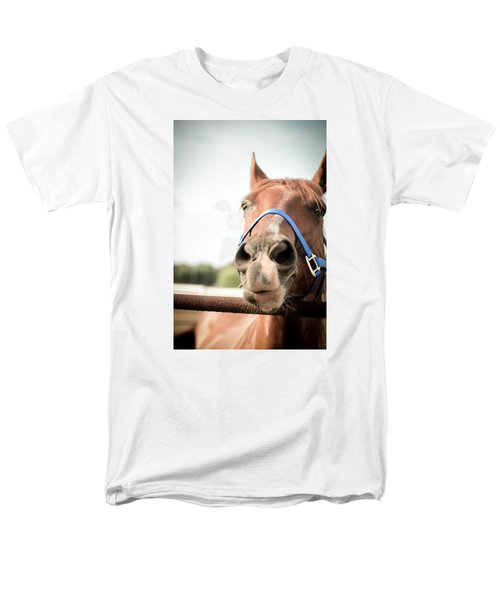 Men's T-Shirt  (Regular Fit) featuring the photograph The Horse's Mouth by Kelly Hazel