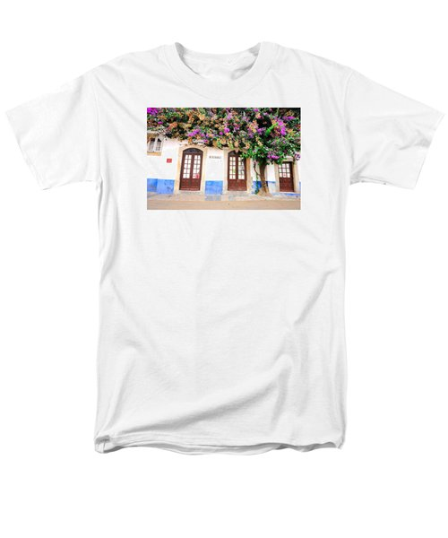 The House With The Bougainvillea Men's T-Shirt  (Regular Fit) by Marwan Khoury