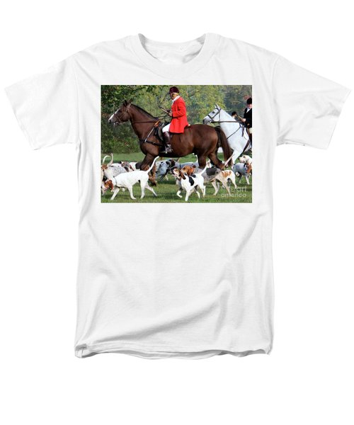 Men's T-Shirt  (Regular Fit) featuring the photograph The Hunt Is On by Polly Peacock