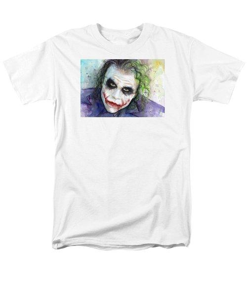 The Joker Watercolor Men's T-Shirt  (Regular Fit) by Olga Shvartsur