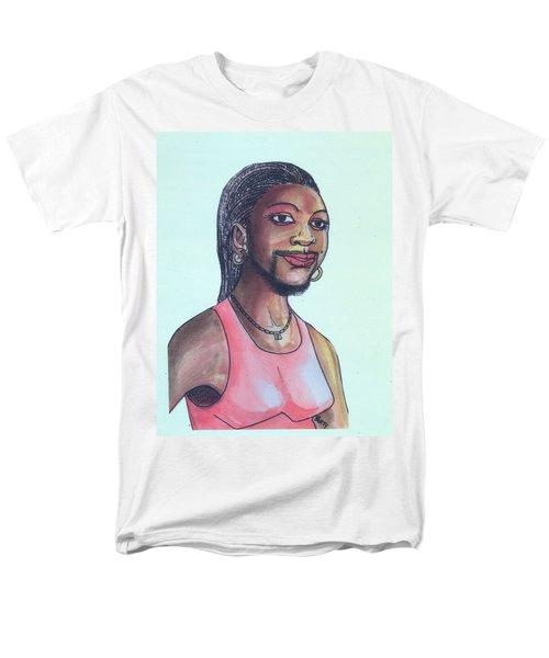 The Lady With A Beard Men's T-Shirt  (Regular Fit) by Emmanuel Baliyanga
