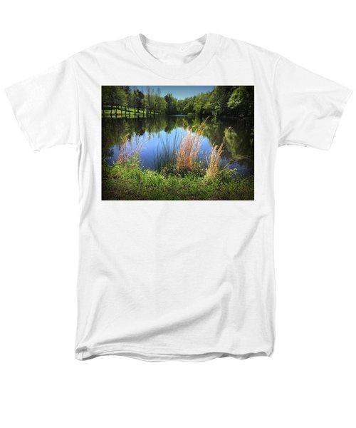 The Lake At Musgrove Mill Men's T-Shirt  (Regular Fit) by Kelly Hazel