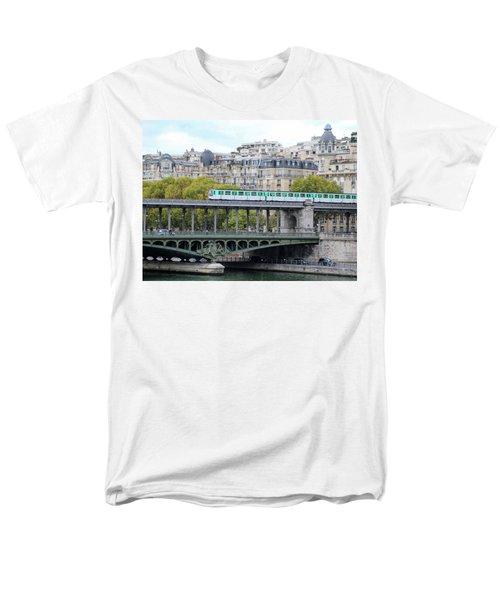 Men's T-Shirt  (Regular Fit) featuring the photograph The Metro On The Bridge by Yoel Koskas