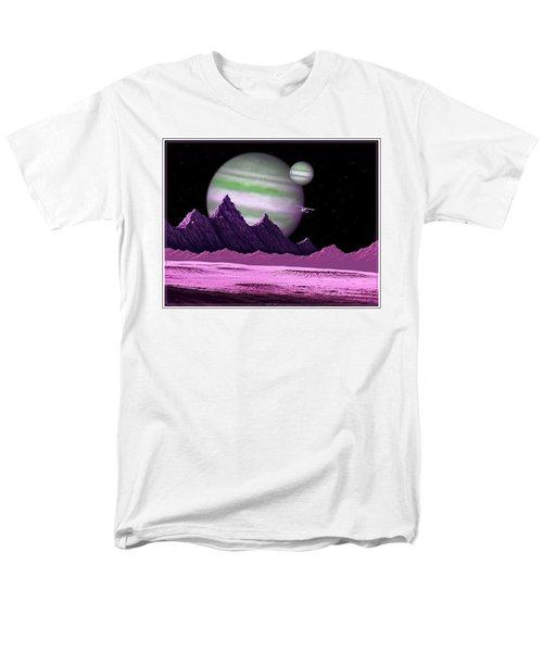 Men's T-Shirt  (Regular Fit) featuring the digital art The Moons Of Meepzor by Scott Ross