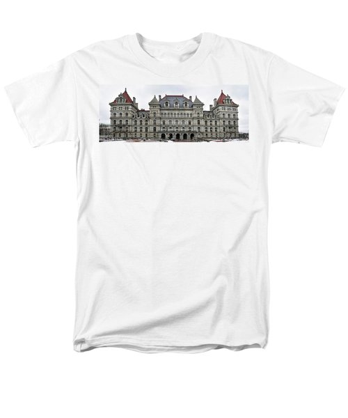 The New York State Capitol In Albany New York Men's T-Shirt  (Regular Fit) by Brendan Reals