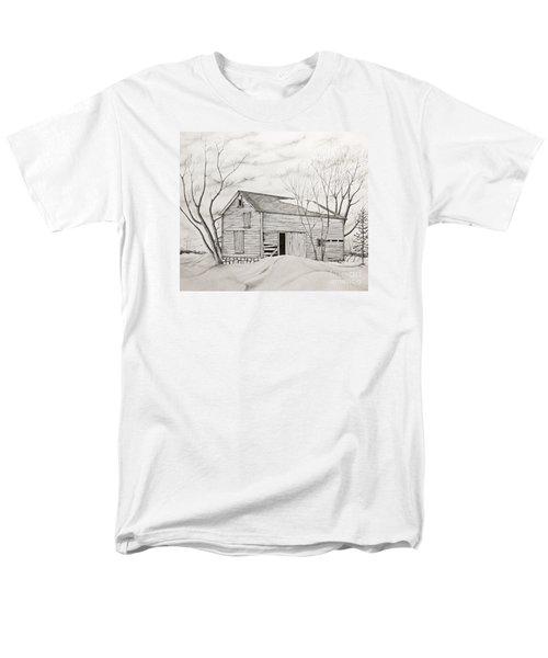 The Old Barn Inwinter Men's T-Shirt  (Regular Fit) by John Stuart Webbstock