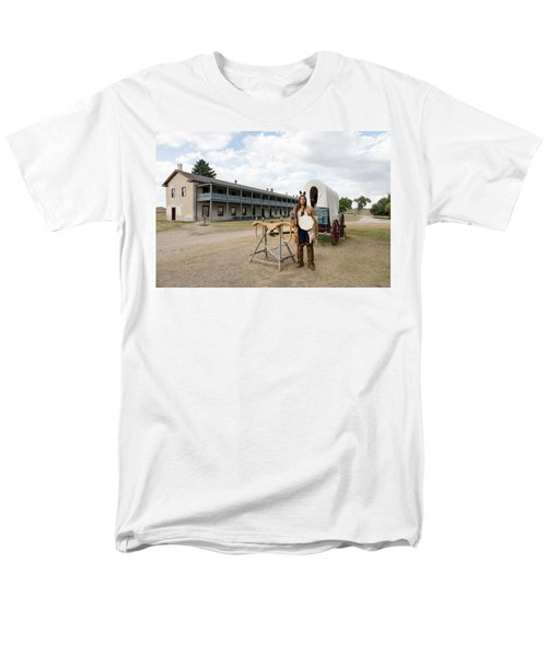 Men's T-Shirt  (Regular Fit) featuring the photograph The Old Cavalry Barracks At Fort Laramie National Historic Site by Carol M Highsmith
