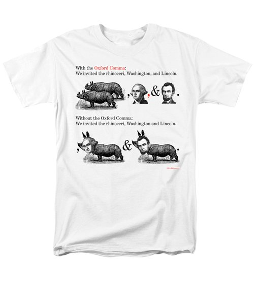 The Oxford Comma Men's T-Shirt  (Regular Fit) by Eric Edelman