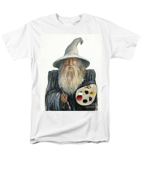 The Painting Wizard Men's T-Shirt  (Regular Fit) by J W Baker